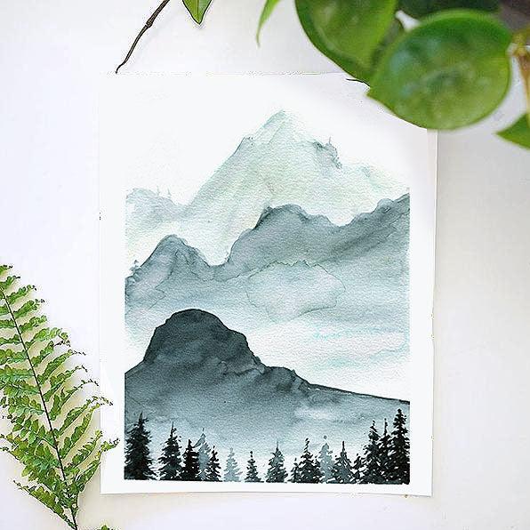 monochrome mountains watercolor kit