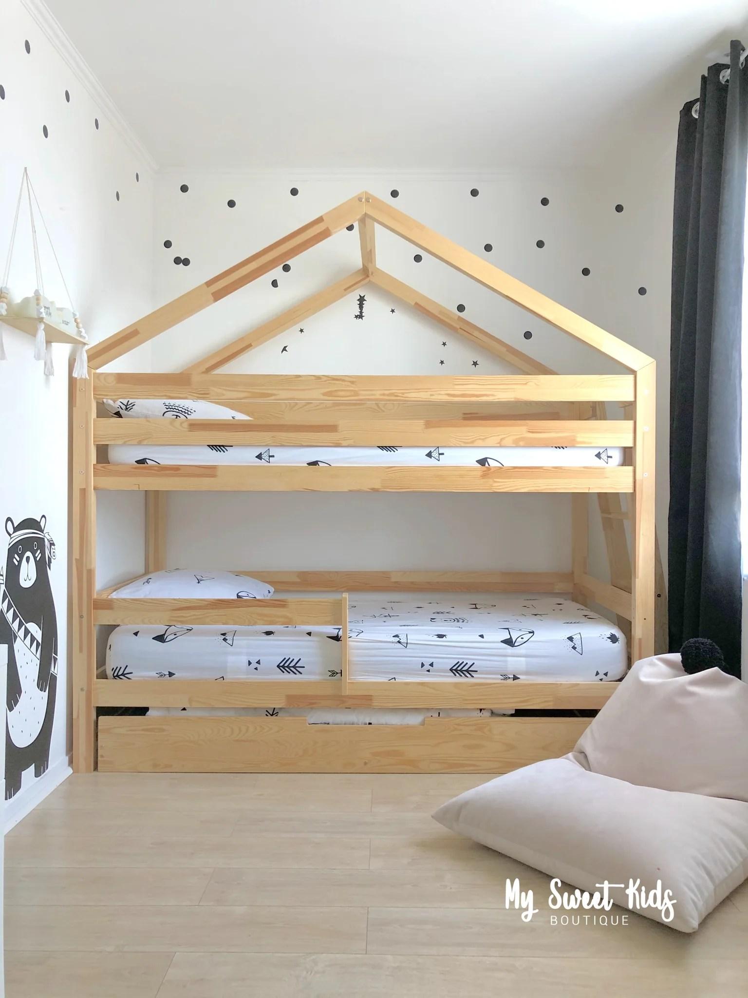 lit superpose jonas avec tiroir gigogne