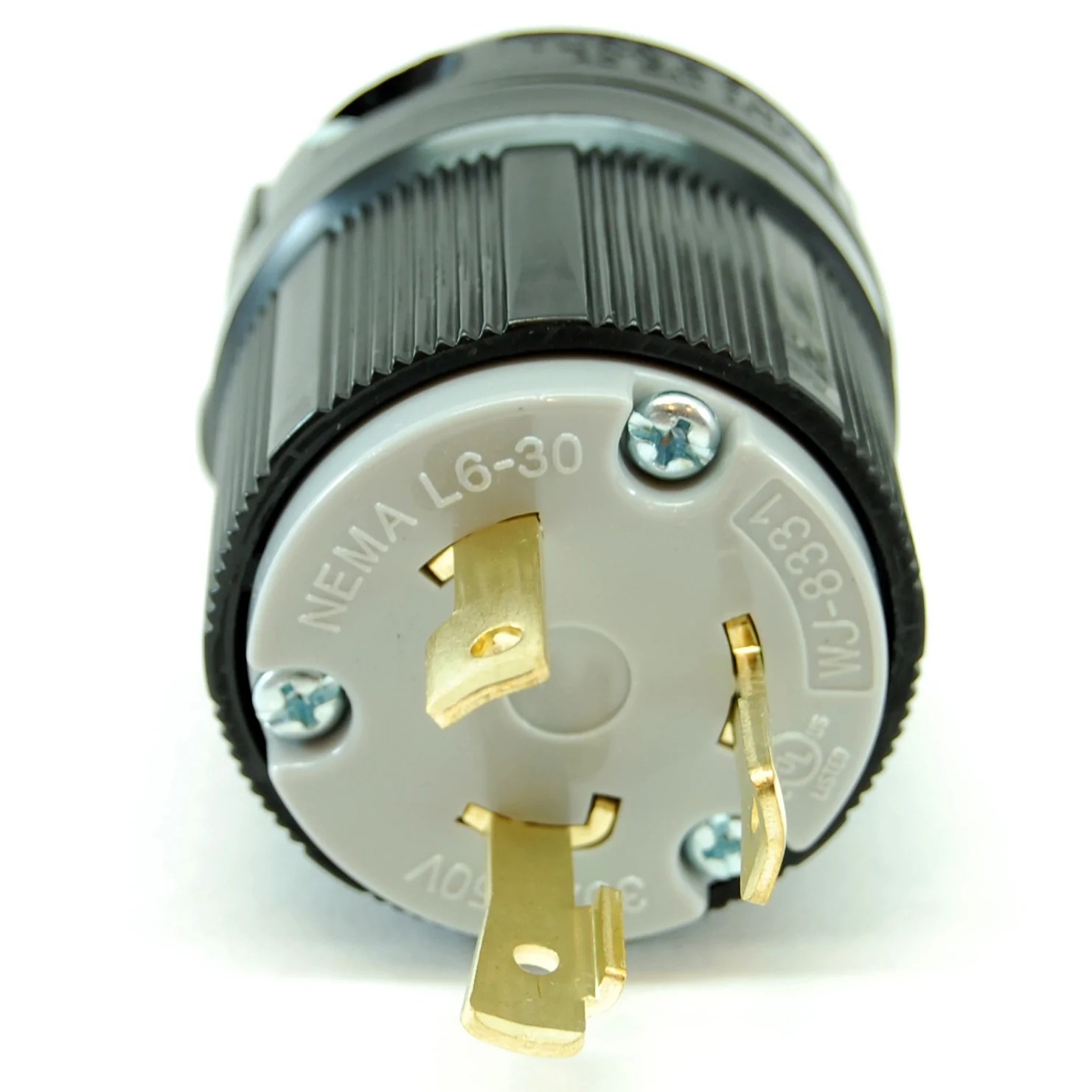 nema l6 30 250vac 30a twist lock electrical male plug [ 1481 x 1481 Pixel ]