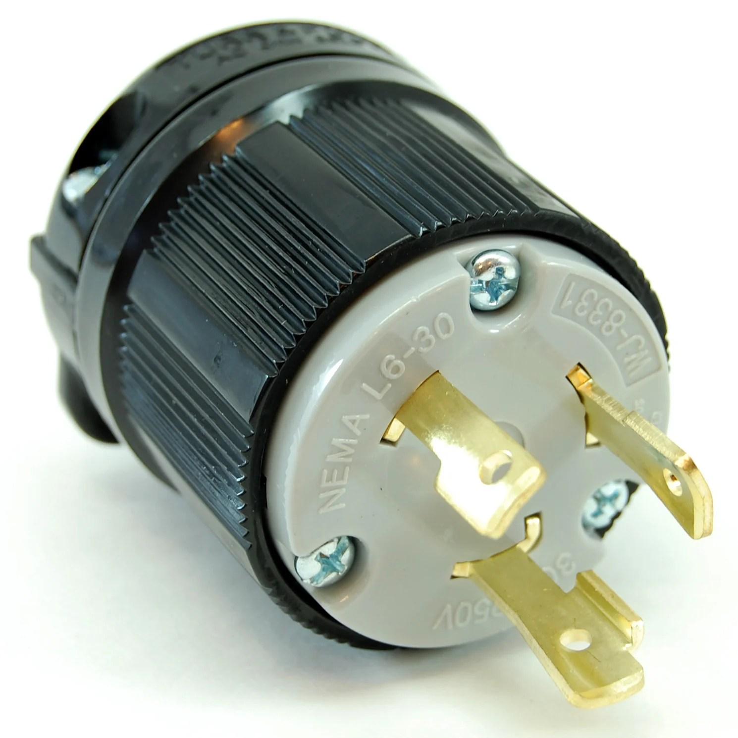 medium resolution of nema l6 30 250vac 30a twist lock electrical male plug