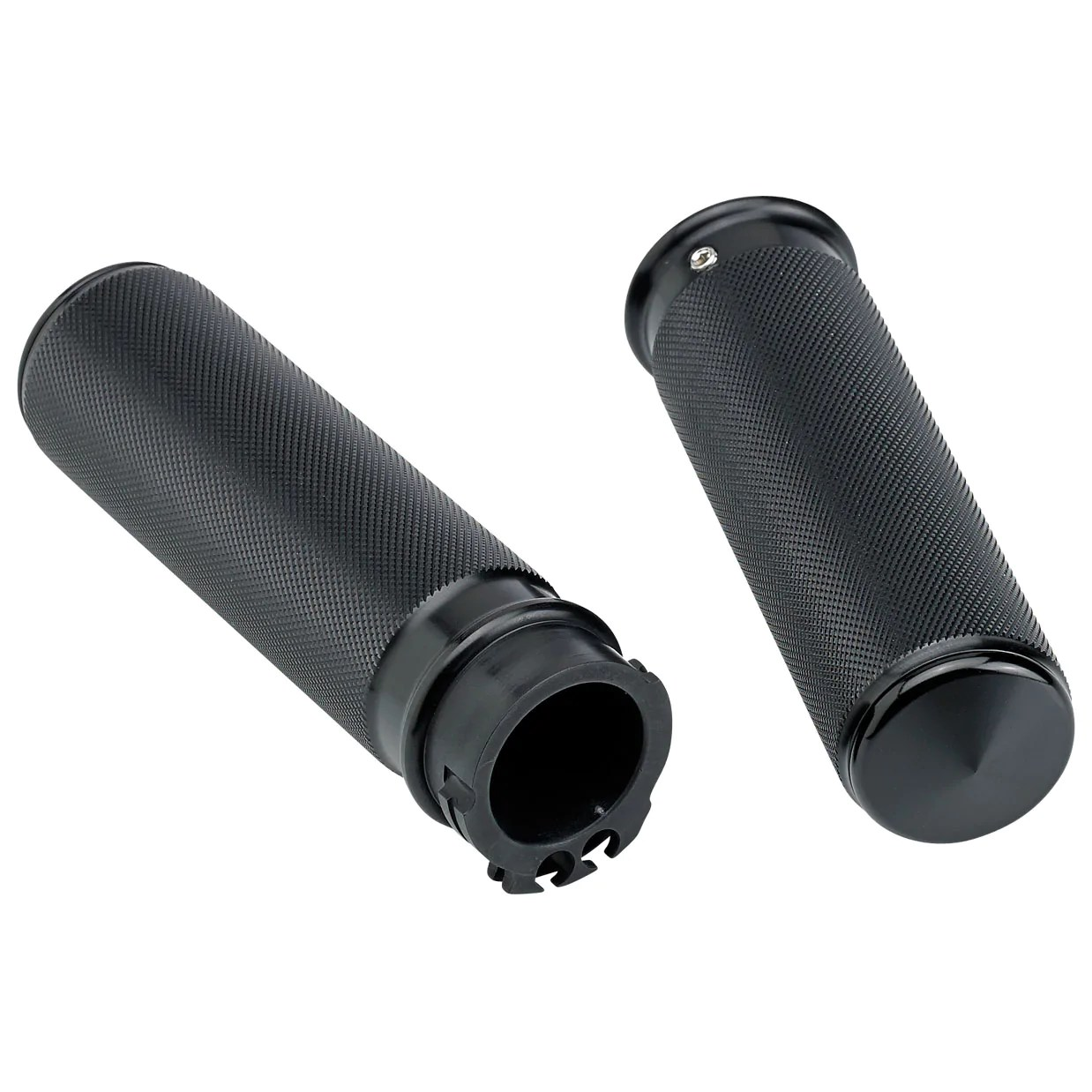 small resolution of open end knurled grip end cap