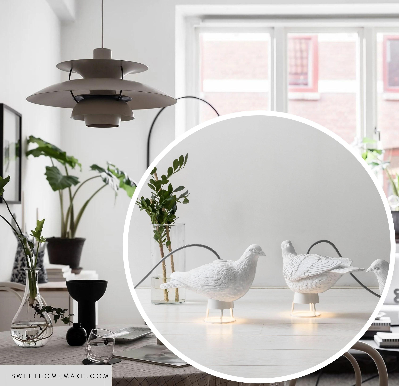 Deko Vögel Lampe zu Wohnzimmer und Schlafzimmer – The Sweet Home Make