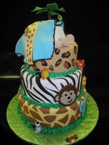 Safari Theme Baby Shower Cake : safari, theme, shower, Shower, Safari, Theme, BS048, Circo's, Pastry