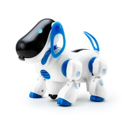 White 2017 Pets Robot Dog Bark Stand Walk Electronic Toys