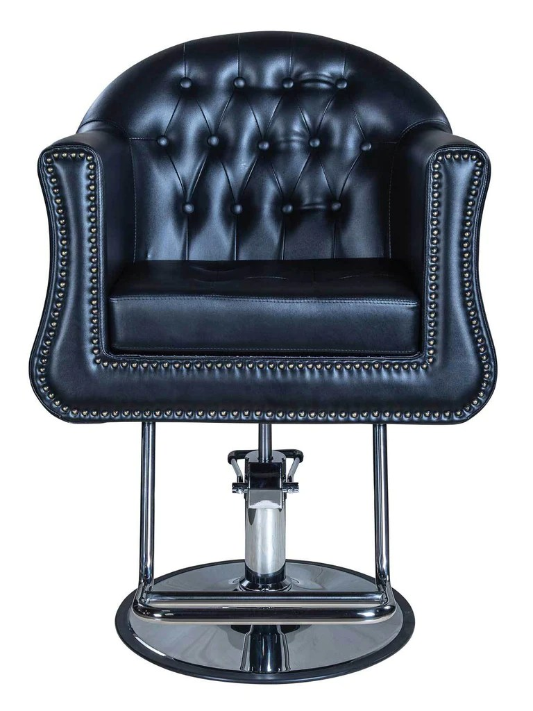 round base chair liberty london dining chairs icarus young black beauty salon styling guys