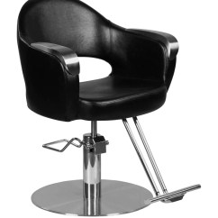 Round Base Chair Ashley Accent Chairs Depp Modern Hair Salon Styling With T Bar Footrest
