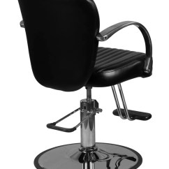 Round Base Chair Wheelchair Getaways Lauren Black Salon Styling Guys Chairs Icarus