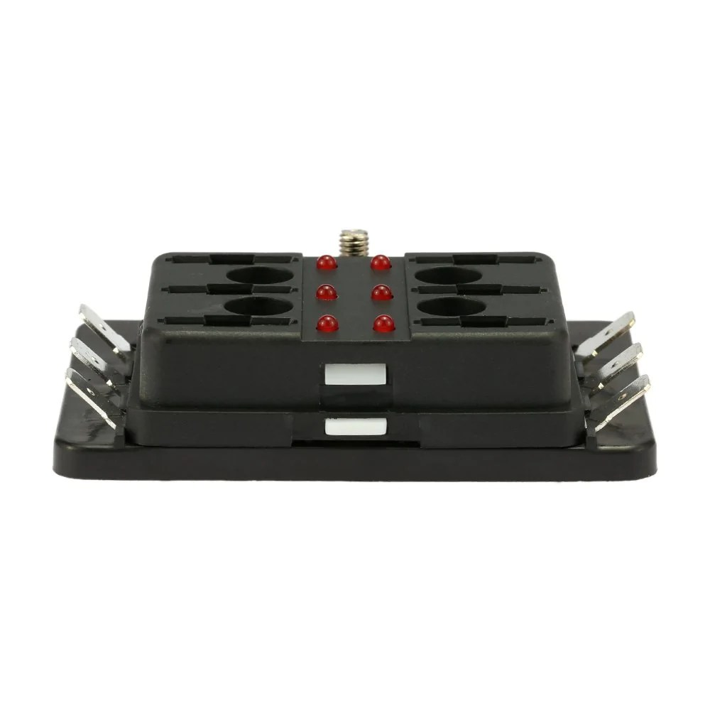 6 way blade fuse box holder with led warning light kit for car boat marine trike [ 1000 x 1000 Pixel ]