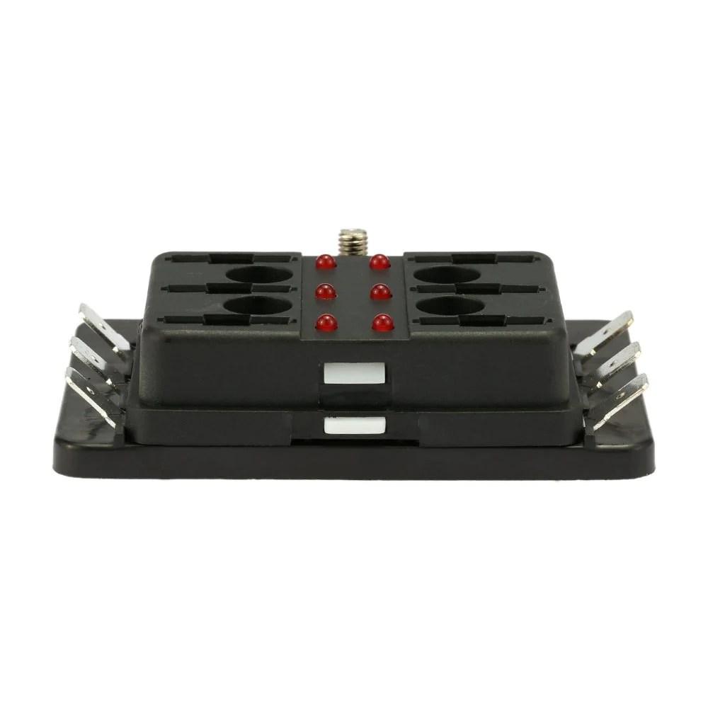 medium resolution of  6 way blade fuse box holder with led warning light kit for car boat marine trike