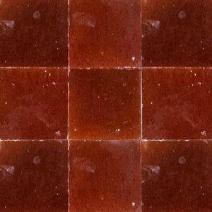 no 7 red brown glazed terracotta tile