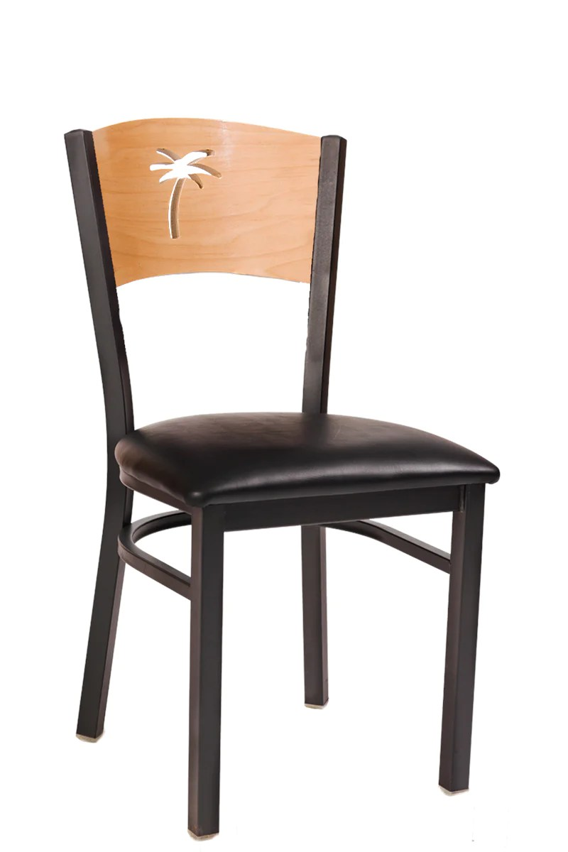 Metal Chairs Palm Natural Back Metal Chair Erf 166