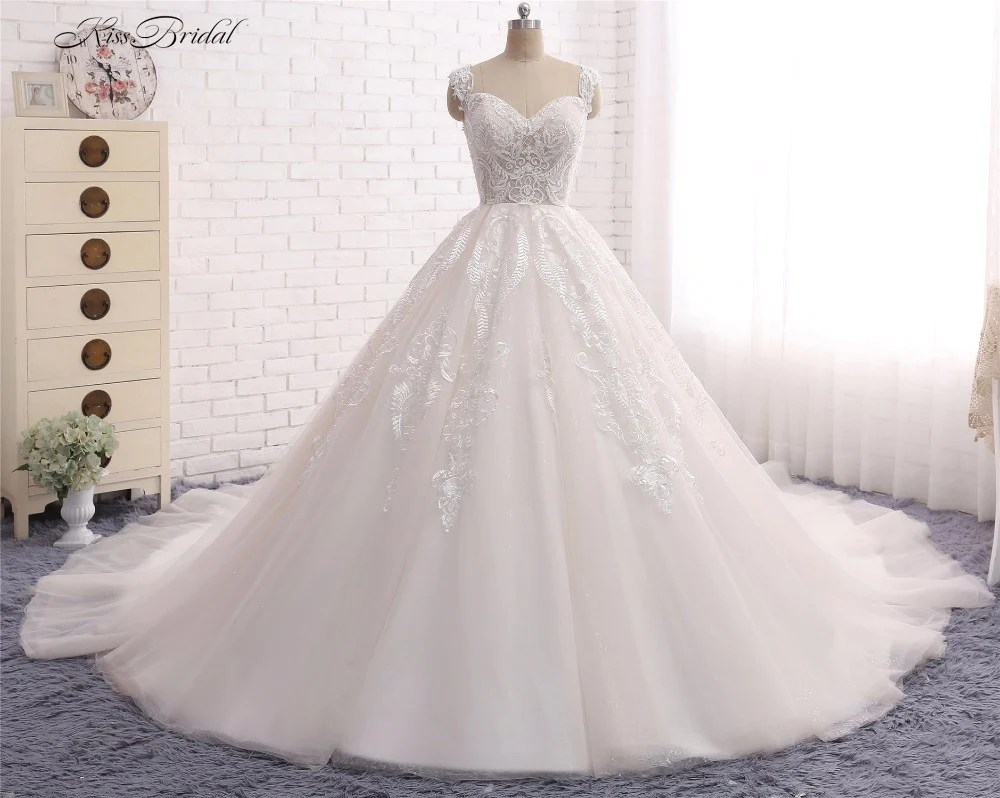 Princess Ball Gown Wedding Dress With Lace & Corset Back