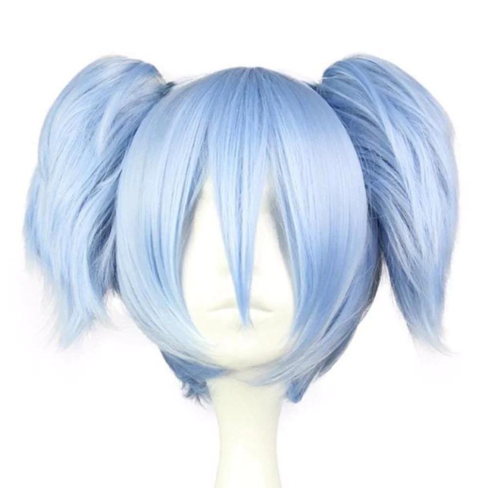 blue pigtail cosplay wig anime