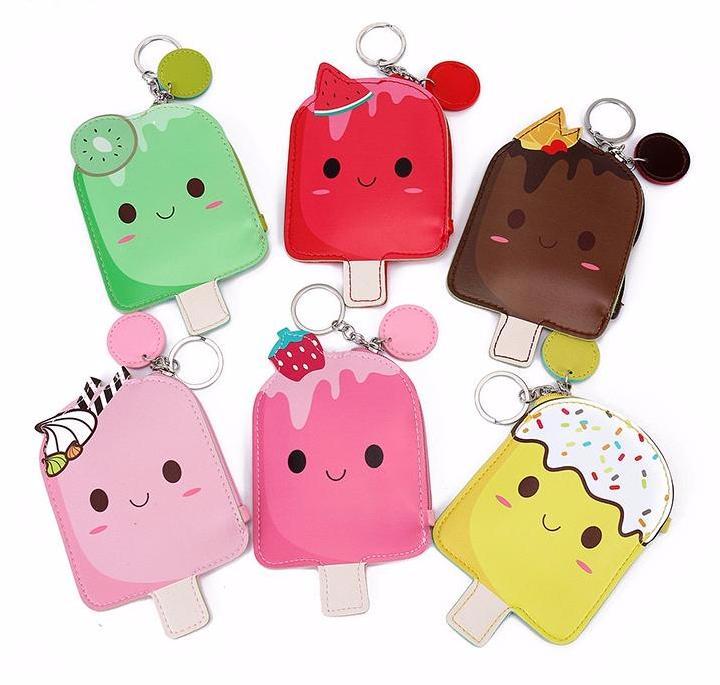 Cute Popsicle Wallpaper Kawaii Popsicle Coin Bag Cute Fruit Keychain Wallet