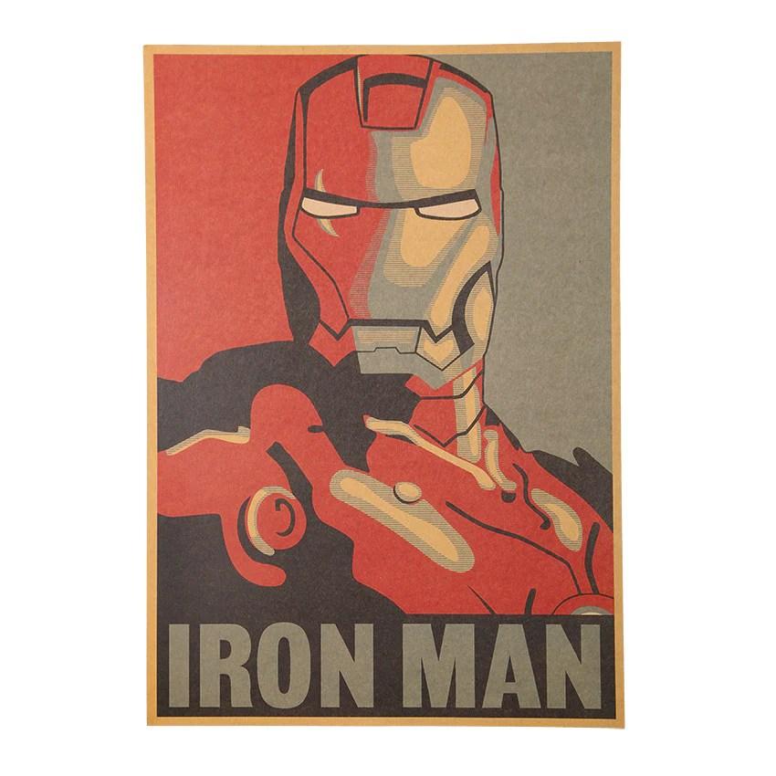 iron man retro poster