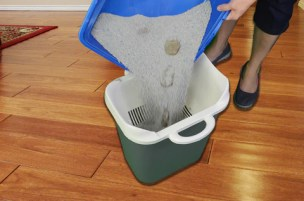 SiftEase is one of our inventions which makes cleaning the litter box easier, with no scooping. Also makes for no litter box odor because you separate the clean and dirty litter from each other!