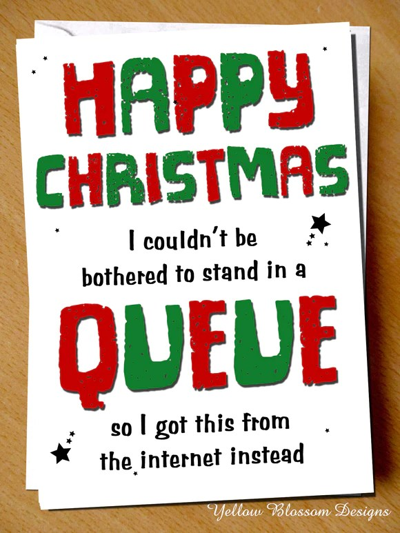 Funny Christmas Cards For Neighbours : funny, christmas, cards, neighbours, Couldn't, Bothered, Queue, Corona, YellowBlossomDesignsLtd