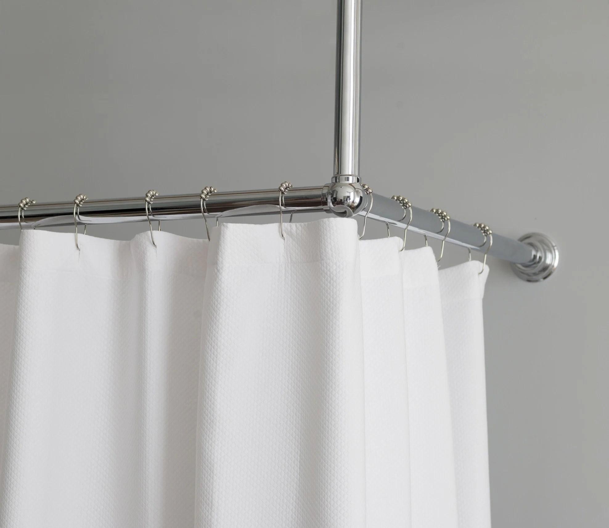 Shower Curtain Rail L Shape Rail