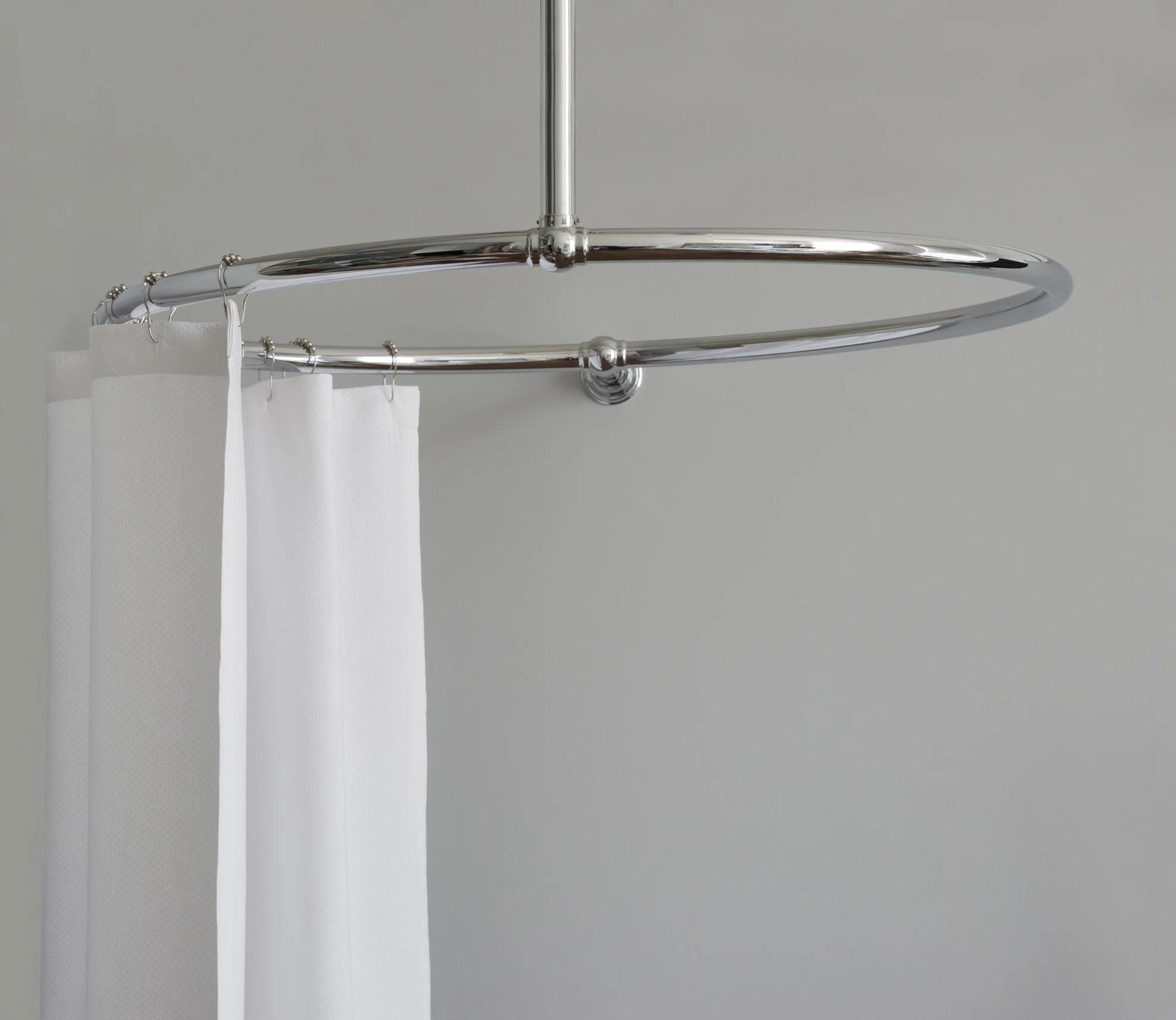 shower curtain rail round rail