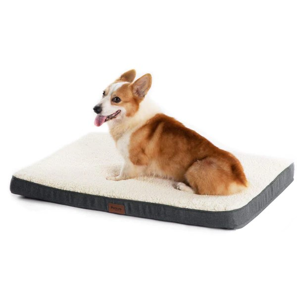 one pets top coussin chien grande taille dehoussable tapis chien orthopedique 112x81x7 6cm lit pour chien en mousse avec revetement de peluche