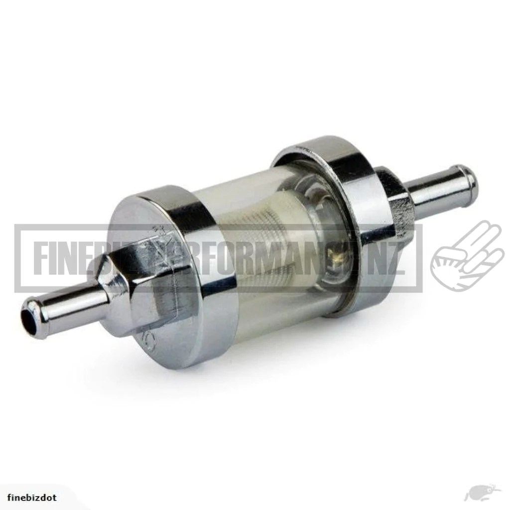 medium resolution of stainless steel inline fuel filter 5 16 barb fittings car parts