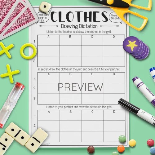 Clothes Drawing Dictation Game Gru Languages