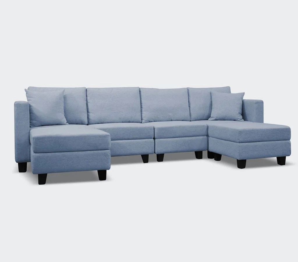 6 piece modular sectional sofa corner bed with storage nz mini loo 6pc small space plus
