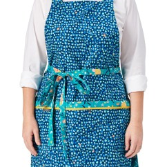 Cute Kitchen Aprons Curtains Valances In Retro Patterns Madmade Design Apron With Pockets A Whimsical Print Of Humming Birds Flowers And Dots