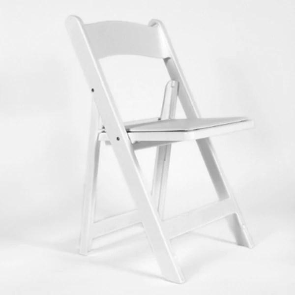 White Martha Padded Chair rental price  mardigrasca