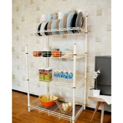 Metal Kitchen Rack Kohler Faucet Leaking White Vetopstorage