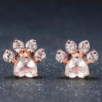 Rose Gold Cat Paw Earrings  Rainbowpick
