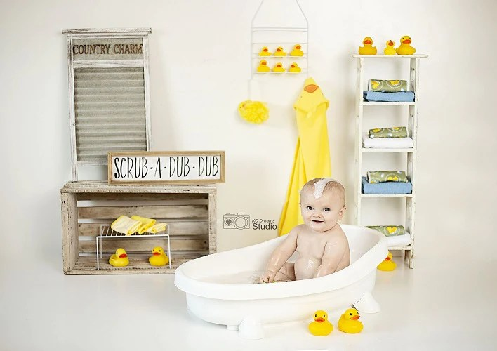 Shop Summer Backdrops Bathroom Background With Duck For Child Whosedrop