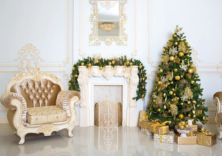 living room tree pendant chandelier shop backdrop gold christmas and gift boxes whosedrop