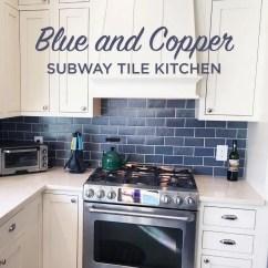 Subway Tiles In Kitchen Sink Faucet Blue And Copper Tile Mercury Mosaics