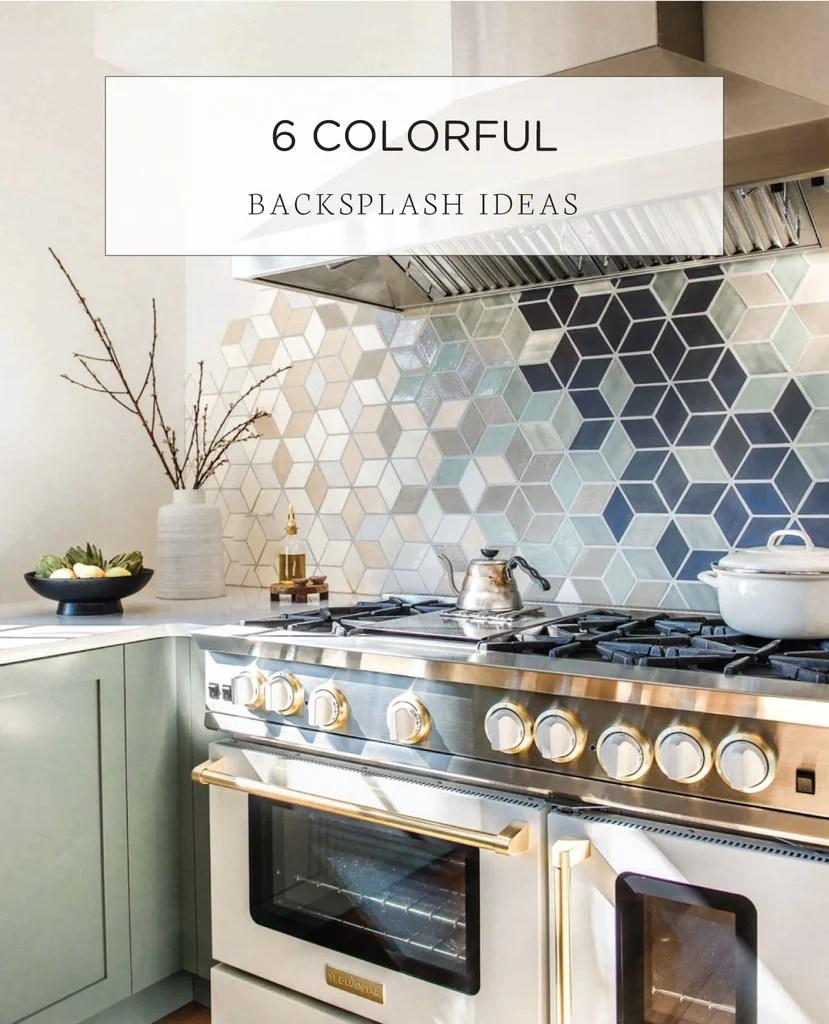 4 unique colorful kitchen backsplash