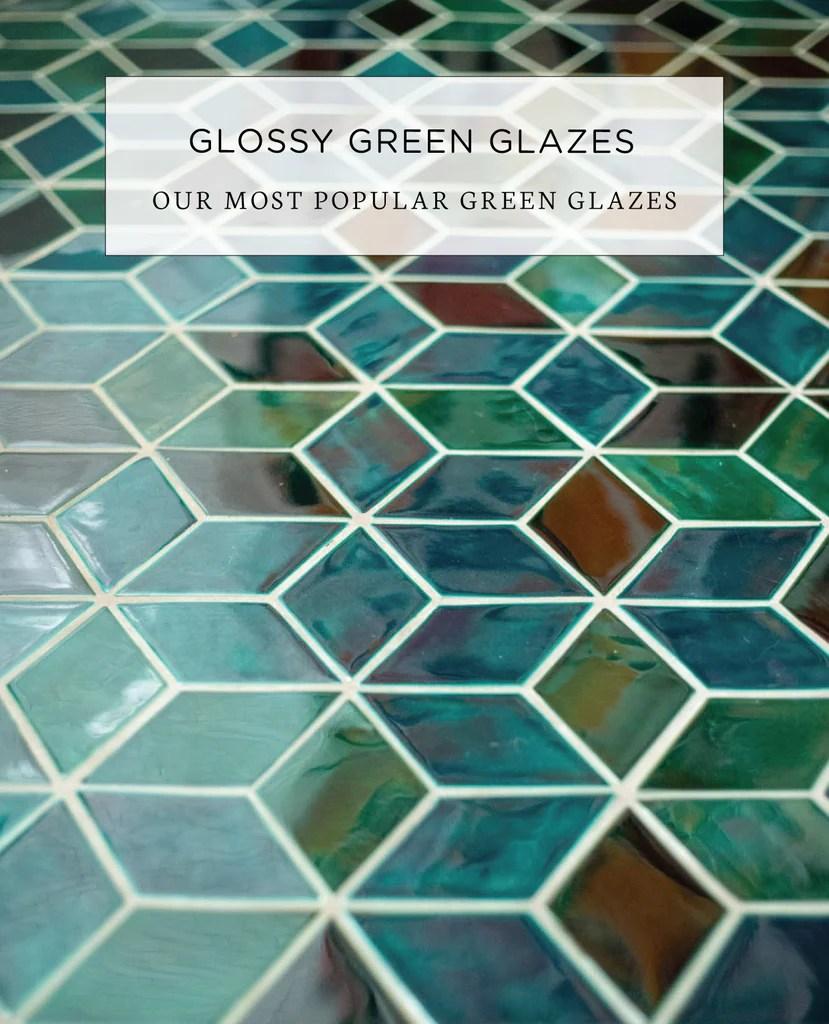 glossy green glazed ceramic tiles