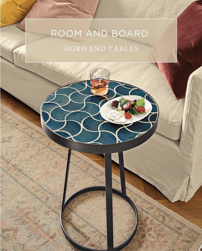 room board tile end tables