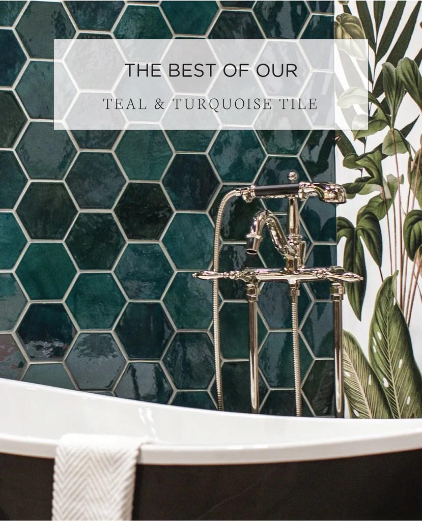 teal turquoise ceramic tile