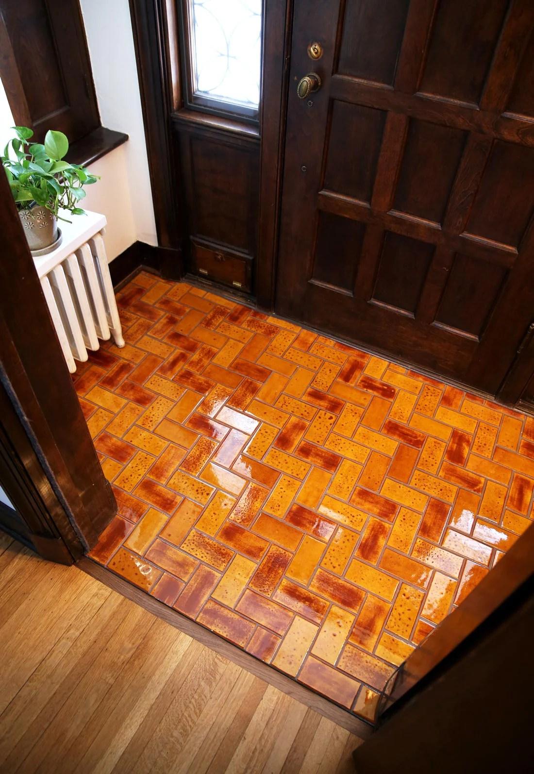 mosaic tile entryway floor