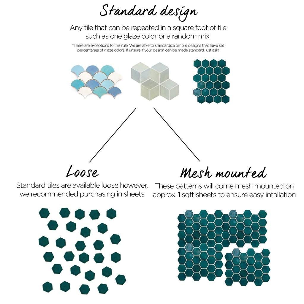 tile mesh sheets mercury mosaics