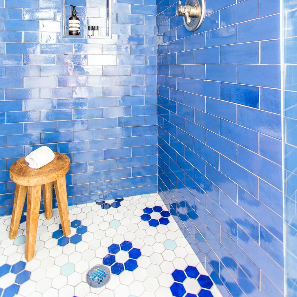 floor to wall tile transition ideas mercury mosaics