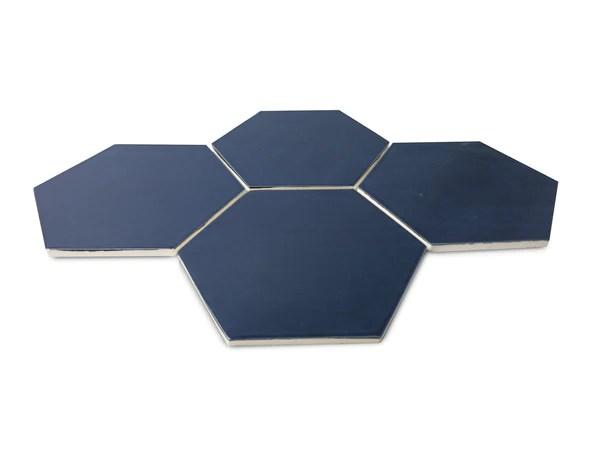 large navy hexagon tile hexagon wall
