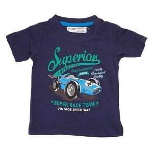 Tricou masina bumbac copii baieti: tricou cu maneca scurta, moale si confortabil, pe fond uni cu imprimeu colorat. Mărimi pentru 12 luni-3 ani. Culori: alb și bleumarin. Compoziție: 100% bumbac.