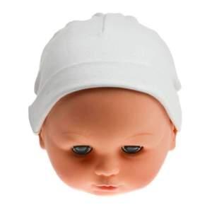Caciulita bumbac bebelusi, moale si fina disponibilă în trei culori: alb, bleu și roz, ideala pentru a fi purtata in casa. Compoziție: 100% bumbac. Mărimi pentru 0-3 luni. Respectați instrucțiunile de spălare de pe etichetă.