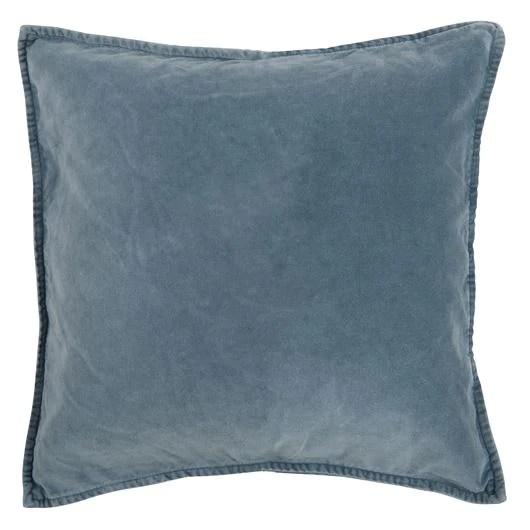 light blue soft velvet cushion