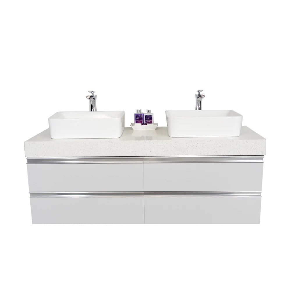 60 floating double sink vanity set white builderz warehouse