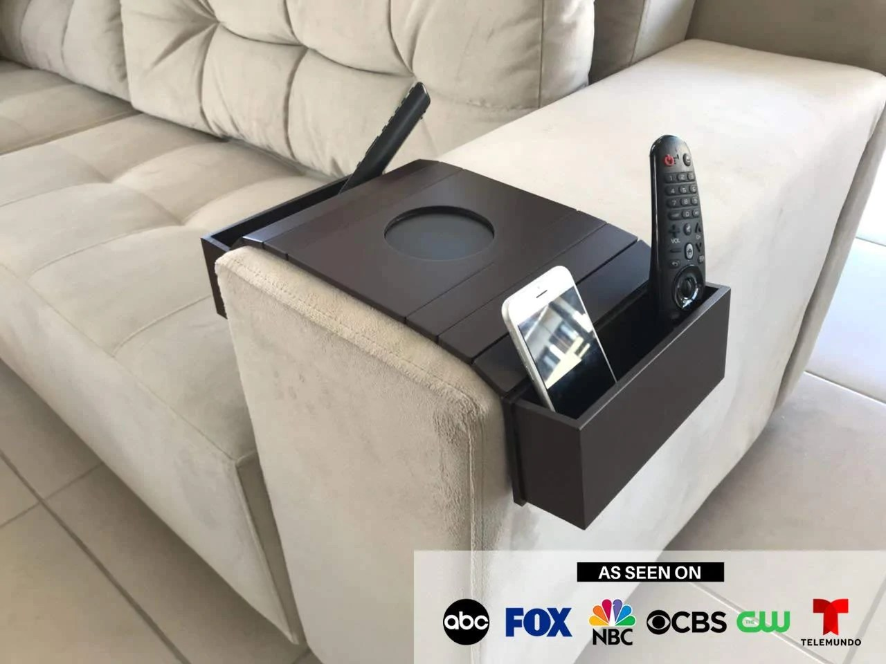 sofa arm bobs bed other home decor tray table remote control and cellphone organizer holder rest