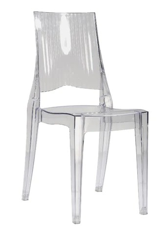 transparent polycarbonate chairs tables with inside mochi furniture ghost dining armless chair description