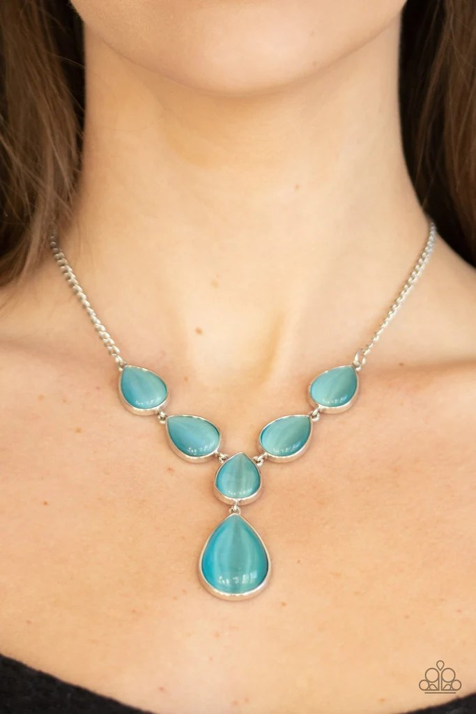 Cats Eye Necklaces : necklaces, Decadence, Cat's, Necklace, Paparazzi, Accessories