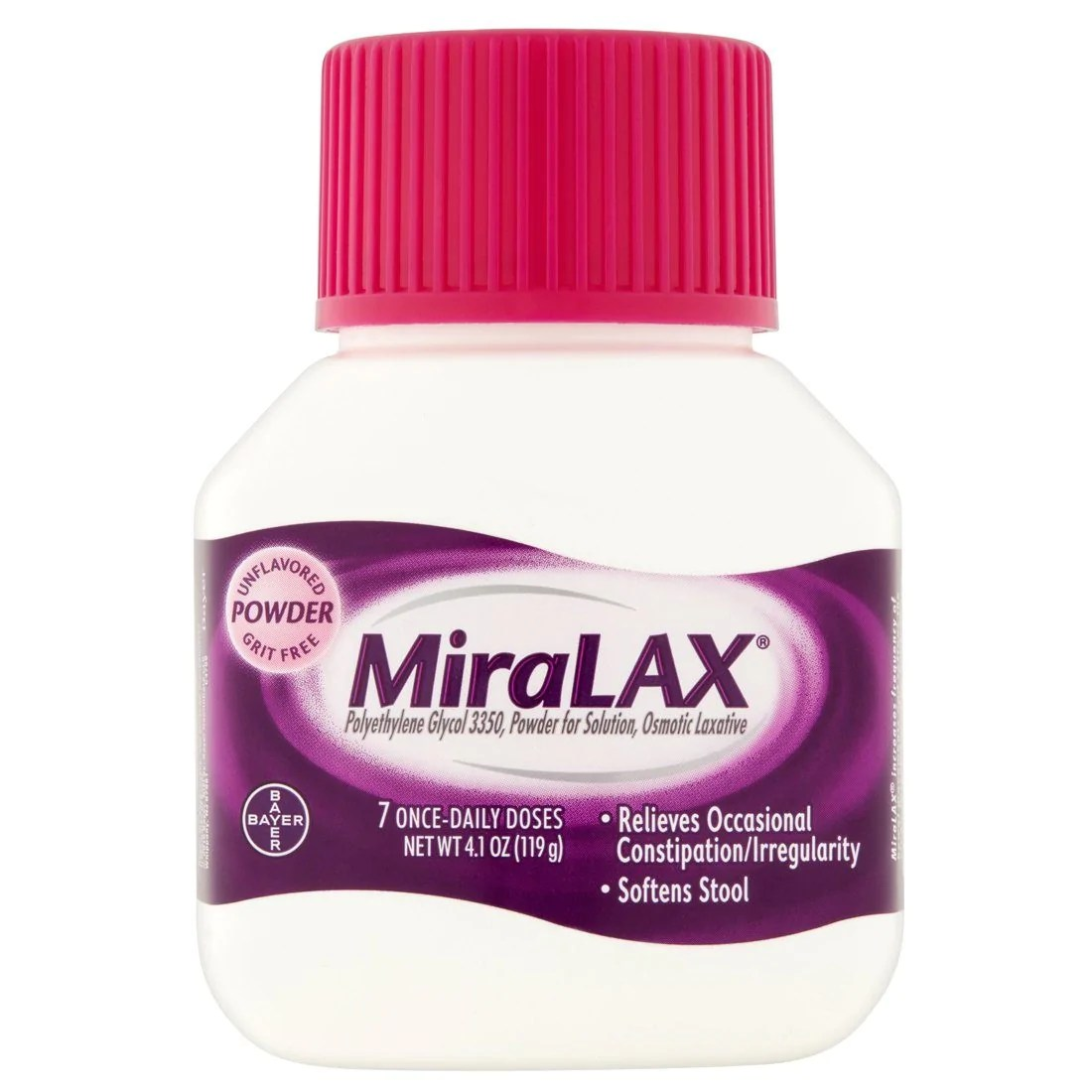 MiraLAX Powder Laxative Constipation Drink 4.1 oz